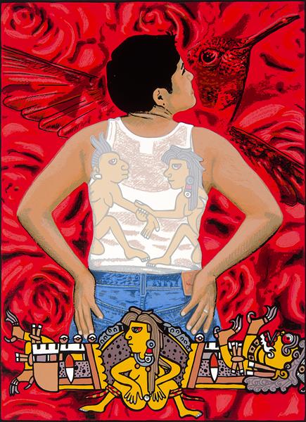 ALMA LÓPEZ, CHUPAROSA, 2002. SCREENPRINT. COLLECTION OF THE MCNAY ART MUSEUM, GIFT OF HARRIETT AND RICARDO ROMO.