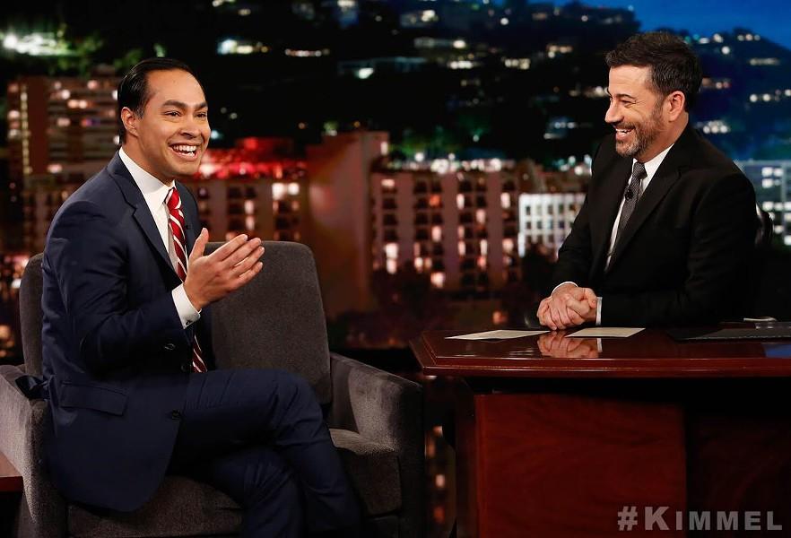 Julián Castro and Jimmy Kimmel cut up on Tuesday night. - TWITTER / JULIANCASTRO