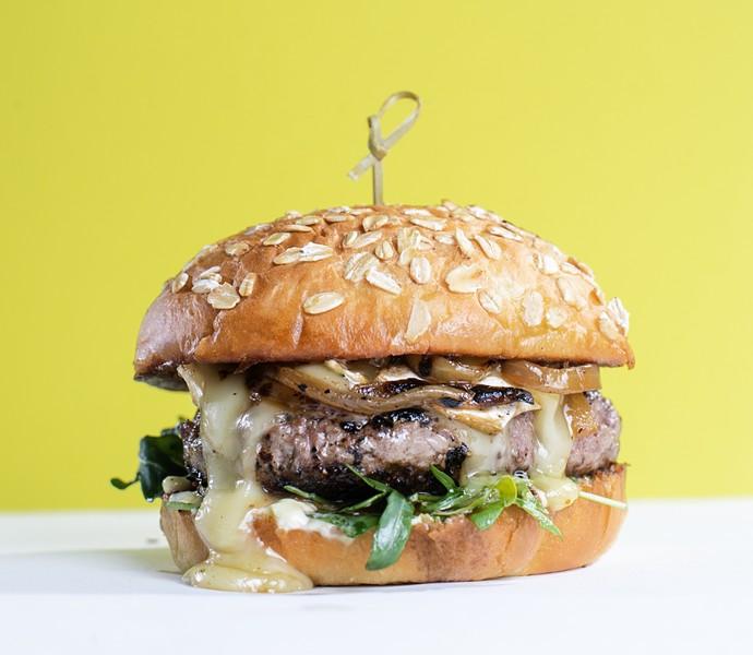 The Devil's River Lamb Burger from Zinc - ERIK GUSTAFSON
