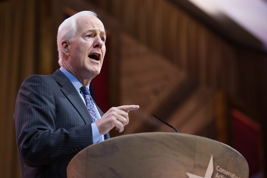 Maybe we'll get to see Sen. Cornyn's favorite Hitler quote next. - SHUTTERSTOCK