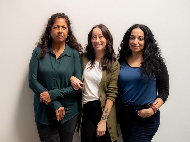 From left: Roshini Kempadoo, Jennifer Ling Datchuk and Sama Alshaibi - COURTESY OF ARTPACE