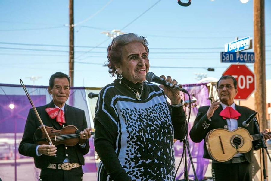 Legendary Tejana Singer Rita Vidaurri Performing in the heart of San Antonio - FACEBOOK, LAS TESOROS DE SAN ANTONIO
