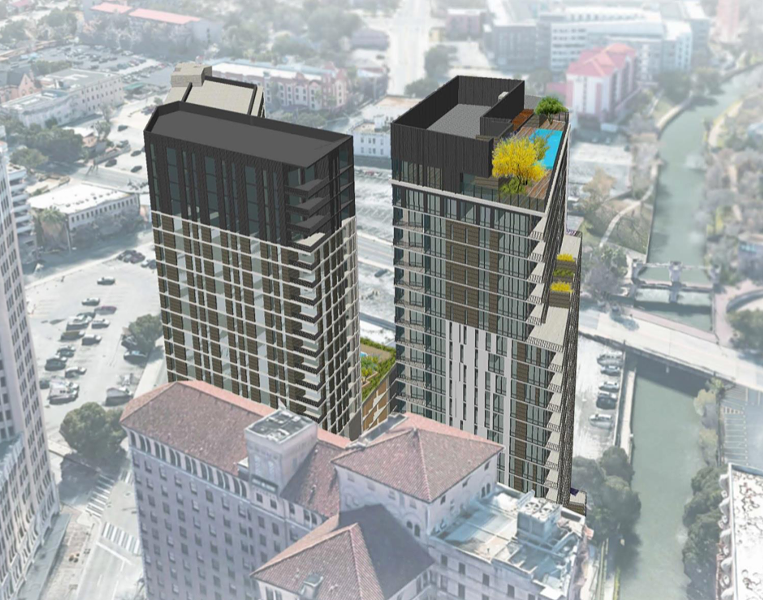 JMJ Development of Dallas plans to built two, 24-story residential towers on Villita Street, one with the help of the housing authority. - COURTESY SAN ANTONIO HOUSING AUTHORITY