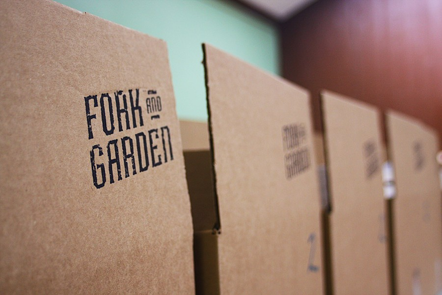 Fork and Garden Food To You boxes are available in three different sizes. - FACEBOOK / FORK AND GARDEN