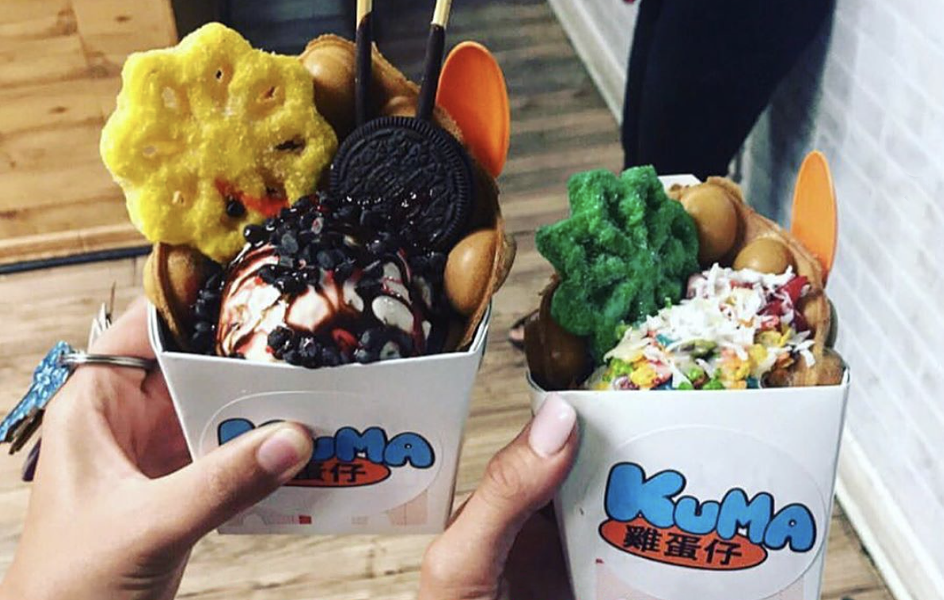 Kuma offers authentic Hong Kong-style waffle cones, piled high with ice cream, syrups, tapioca and more. - INSTAGRAM / KUMA.SATX