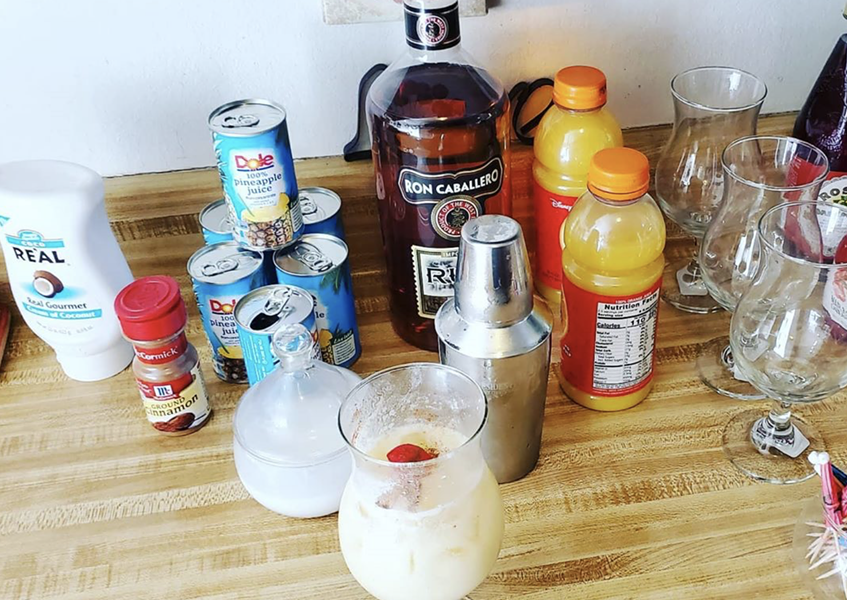 You too can make delicious tiki-style drinks at home. - INSTAGRAM / SHAMROCK_LOVER