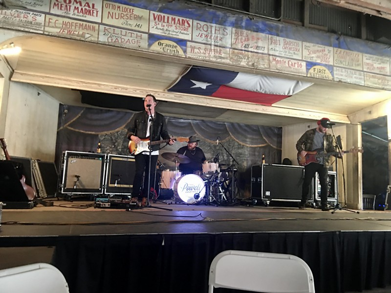 The Powell Brothers perform at Gruene Hall on the first night the dance hall has hosted live music since the pandemic. - COURTESY OF THE POWELL BROTHERS