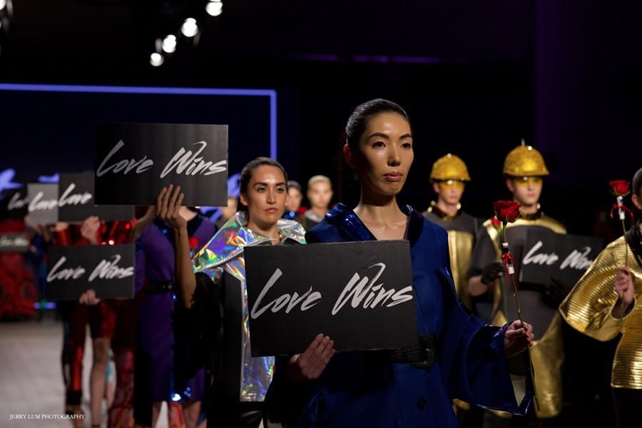 "Golden Skyy's runway presentation ""Love Wins"" - JERRY LUM"