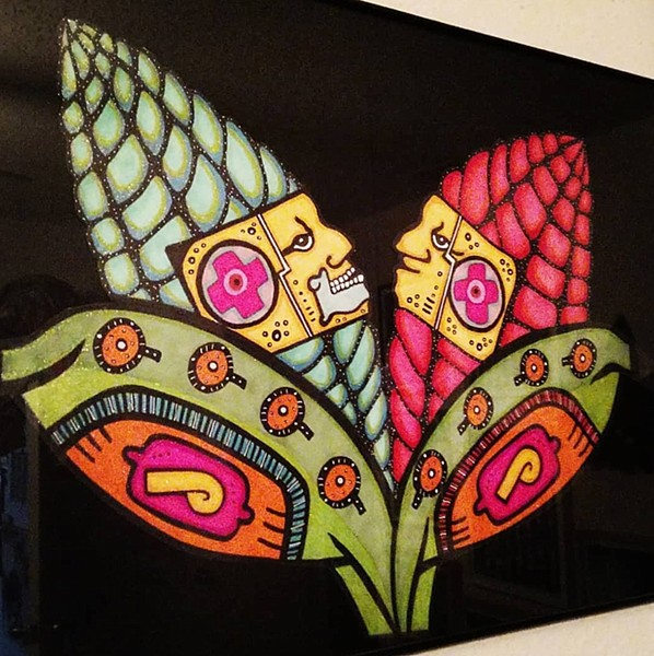 Indigenous-themed artwork by Nina Donley - COURTESY OF NINA DONLEY