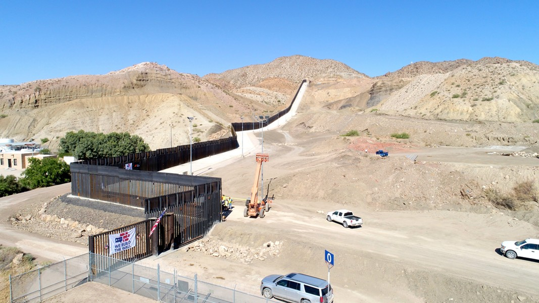 A photo Fisher Industries posted of privately build border wall near El Paso. - TWITTER / @FISHERSANDG