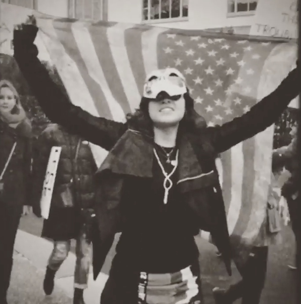 Rodriguez at the 2017 Women's March on Washington - INSTAGRAM / MRODOFFICIAL