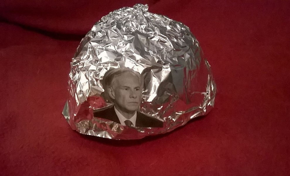 Apparently, the sale has discontinued for these premium Texas Governor Greg Abbott tinfoil hats. We're guessing they sold out. - EBAY