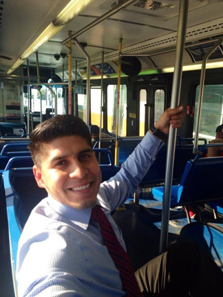 After District 4 Councilman Rey Saldaña posted this photo to social media, one of his constituents told him long bus rides were their reality. - COUNCILMAN REY SALDAÑA