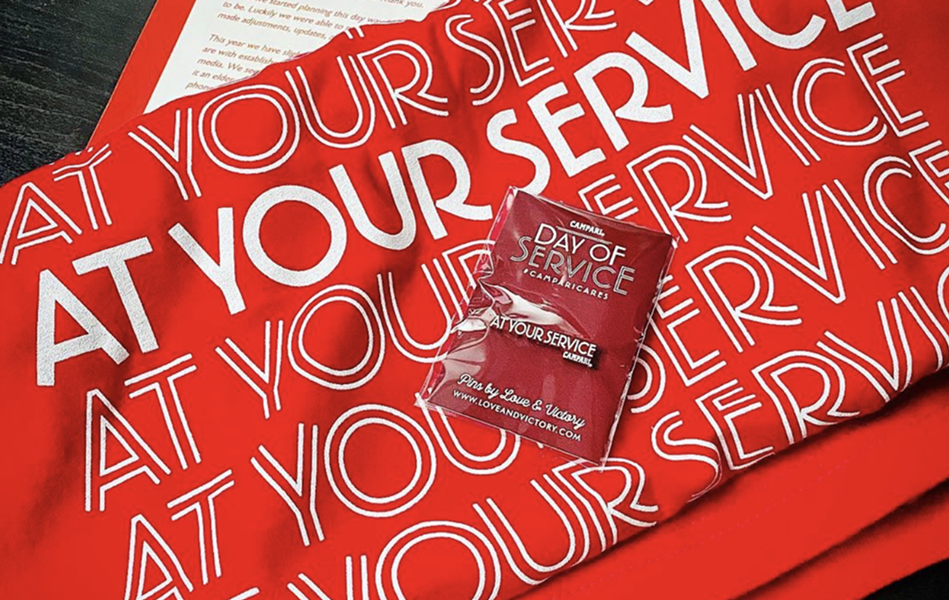Bar pros who signed up to volunteer their time to Campari's annual National Day of Service received a t-shirt and commemorative pin. - INSTAGRAM /  ZAC90210