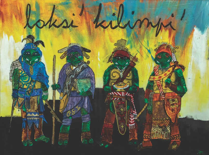 Dustin Mater, Tushka Loksi (Warrior Turtles), 2015. - COURTESY OF BRISCOE WESTERN ART MUSEUM