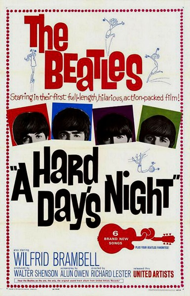 The poster for The Beatles' 1964 flick - COURTESY