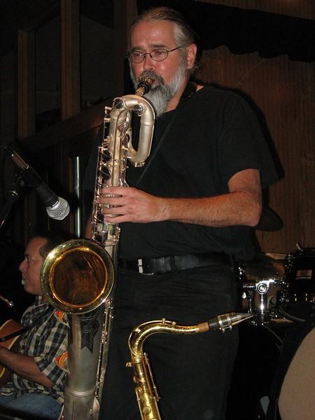 George Briscoe, saxophonist and Crimson Jazz Orchestra bandleader - VIA FACEBOOK