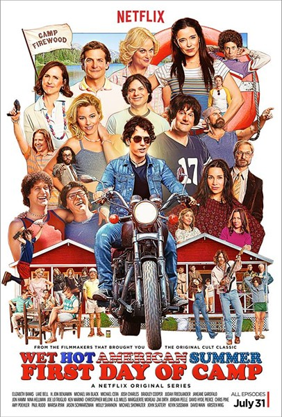 There's too many funny people to name in this amazingly casted production of Wet Hot American Summer: First Day Of Camp, the prequel to Wet Hot American Summer which wrapped a decade ago. - WET HOT AMERICAN SUMMER: FIRST DAY OF CAMP/FACEBOOK