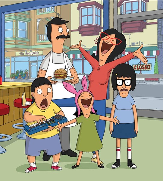 The Belcher family. Up top we have the parentals Bob and Linda Belcher, and below we have Gene with his ever-synthesizing keyboard, Louise and her iconic bunny ears and butt-crazed Tina Belcher. - FACEBOOK/BOB'S BURGERS
