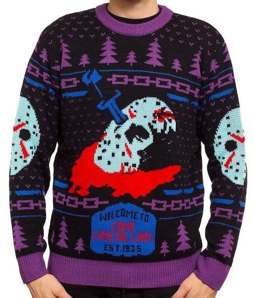 It's never too hot in October for a Friday the 13th knit sweater. - MONDO