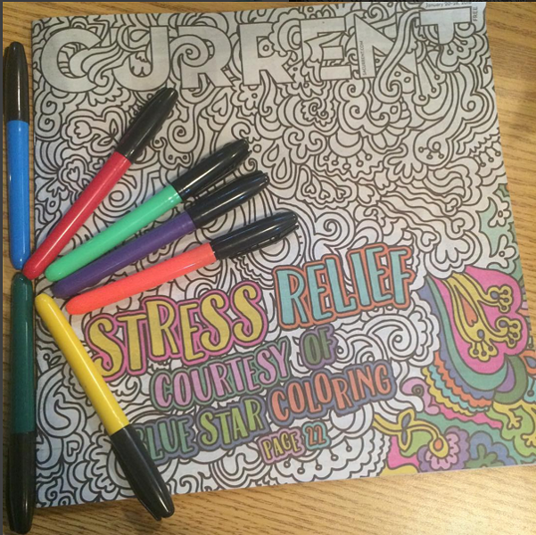 Get to coloring and win prizes - @SACURRENT/INSTAGRAM