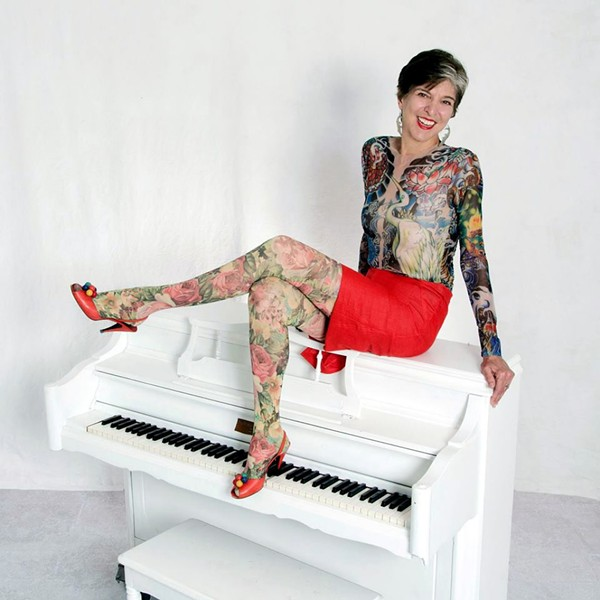 Marcia Ball tatted up with (faux) ink. - COURTESY