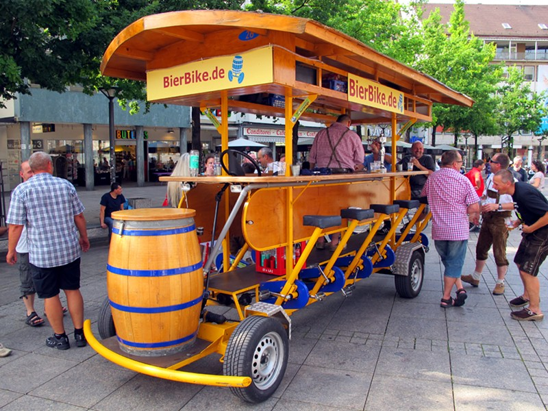 A beer bike in Berlin. - WIKIMEDIA COMMONS