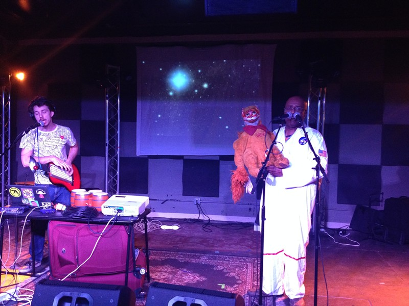 "Jonah ""Th' Mole"", David Liebe Hart and one of his famous puppets ""Jason"". - TRAVIS BUFFKIN"