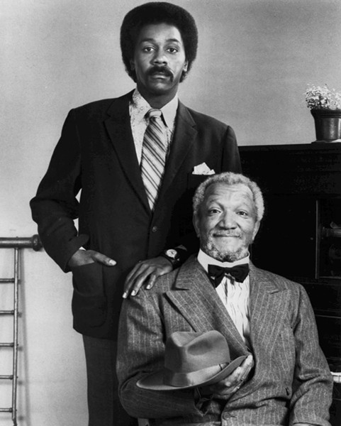 Demond Wilson and Redd Foxx as Lamont and Fred Sanford. - WIKIPEDIA