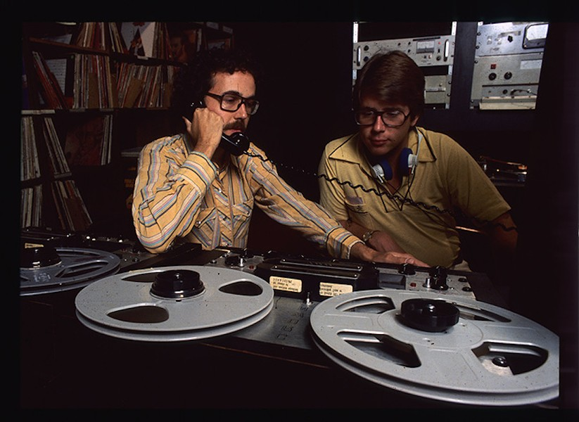 A shot from the early days of the KRTU station on the Trinity campus. Note the reel to reel. - COURTESY OF KRTU