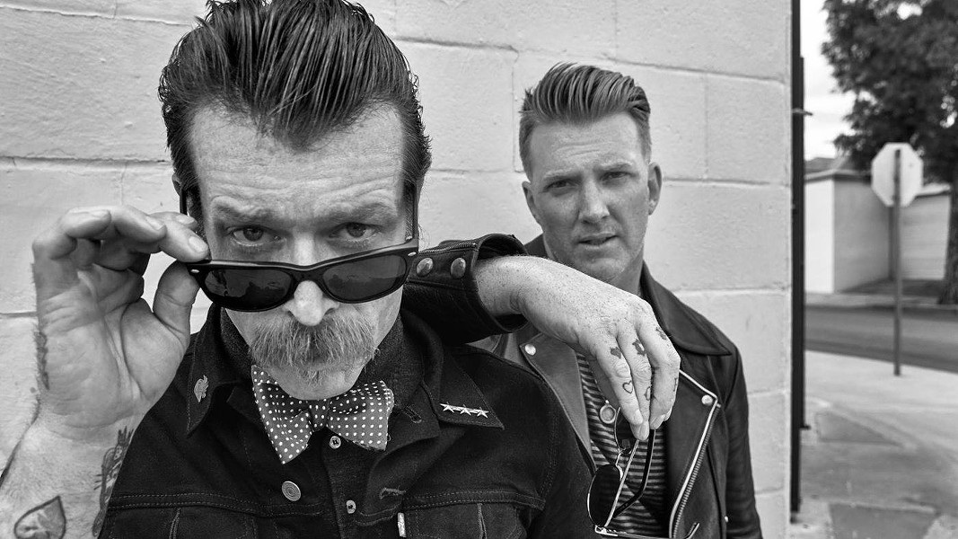 Jesse Holmes and Josh Homme, the Eagles of Death Metal. - FACEBOOK