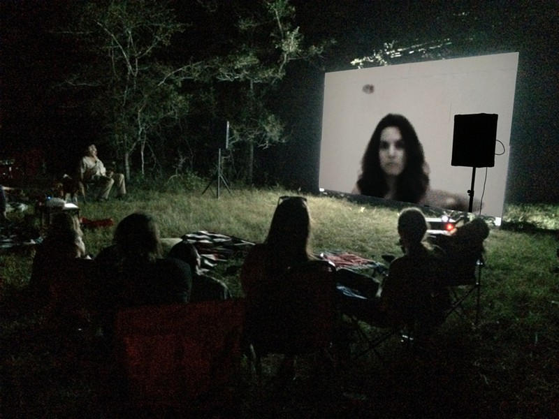 A screening of a Laura Vasquez film. - MICHELLE MONSEAU