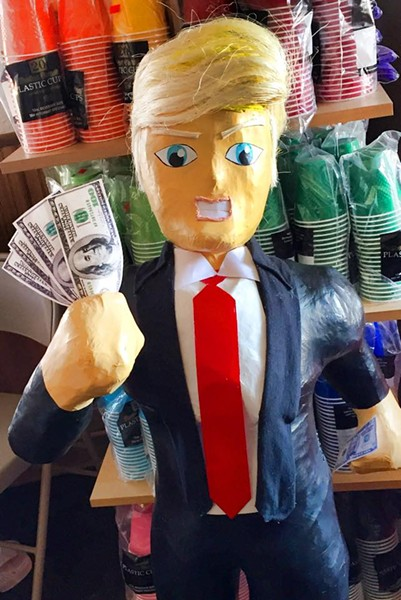 The larger version of Pinata Time's Donald Trump pinata. - PINATA TIME