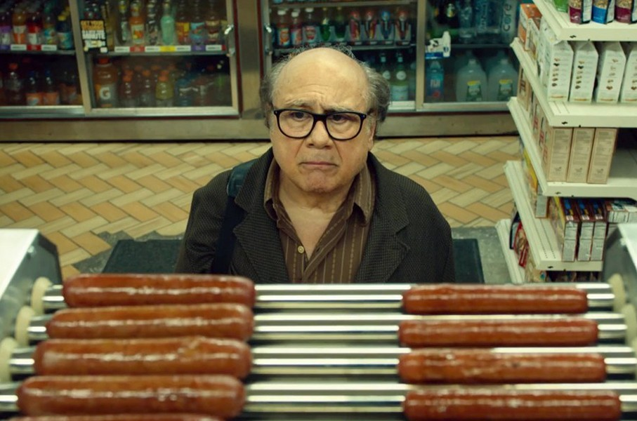 In Wiener-Dog, Danny DeVito plays Dave Schmerz, a college film professor trying to understand his place in the world. - AMAZON STUDIOS