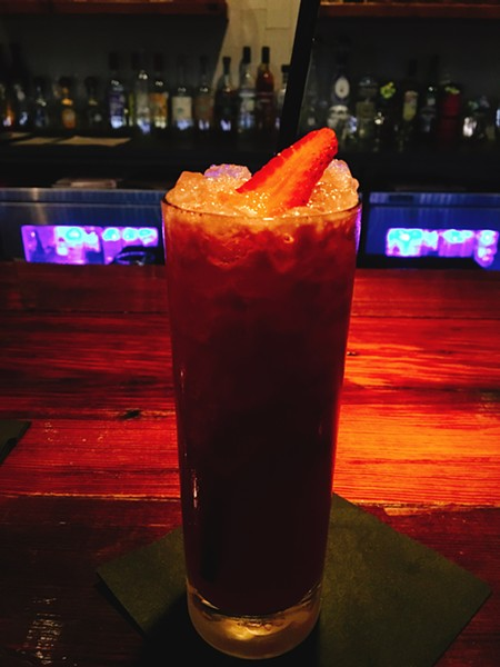 A strawberry mocktail from Francis Bogside. - JESSICA ELIZARRARAS