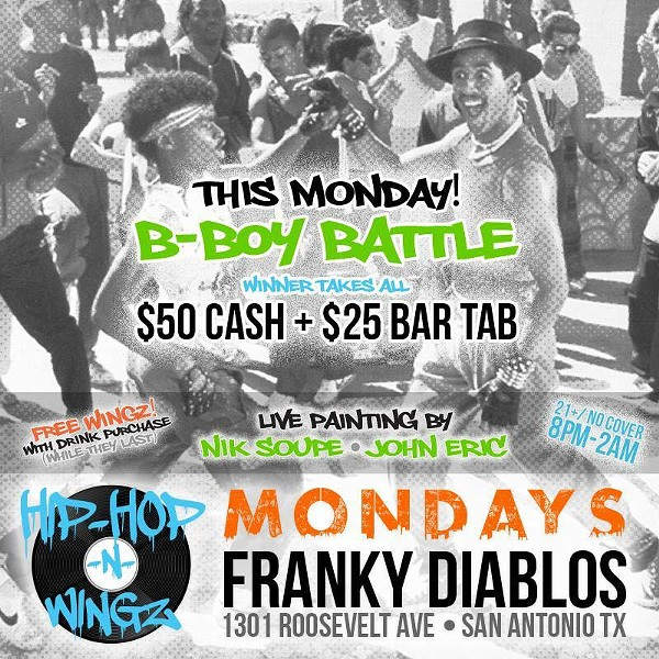 The poster for Hip-Hop -N- Wingz - OFFICIAL FRANKY DIABLO'S FACEBOOK PAGE