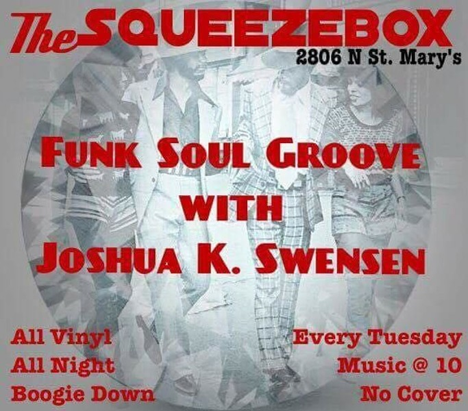HTTP://DO210.COM/EVENTS/WEEKLY/TUE/FUNK-SOUL-GROOVE-WITH-JOSHUA-K-SWENSEN