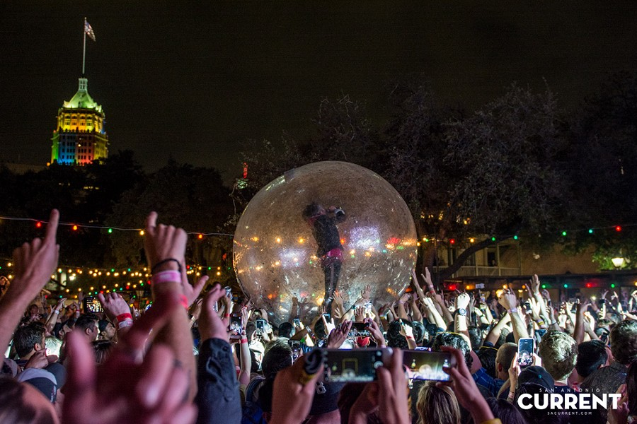 The Flaming Lips headlined the 2016 Maverick Music Festival - JAIME MONZON