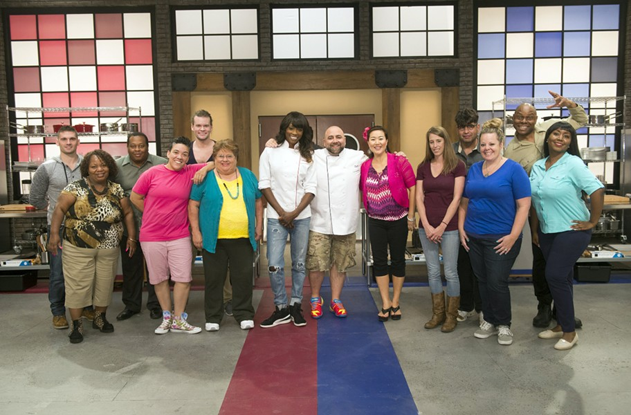 The cast of the new Food Network reality series Worst Bakers in America hope to not burn down the kitchen when the show debuts Oct. 2. - FOOD NETWORK