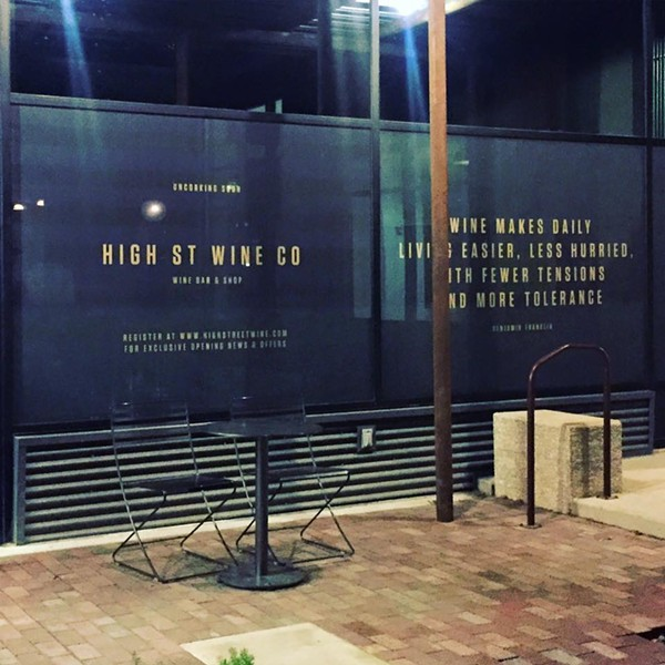 FACEBOOK/HIGH STREET WINE CO.