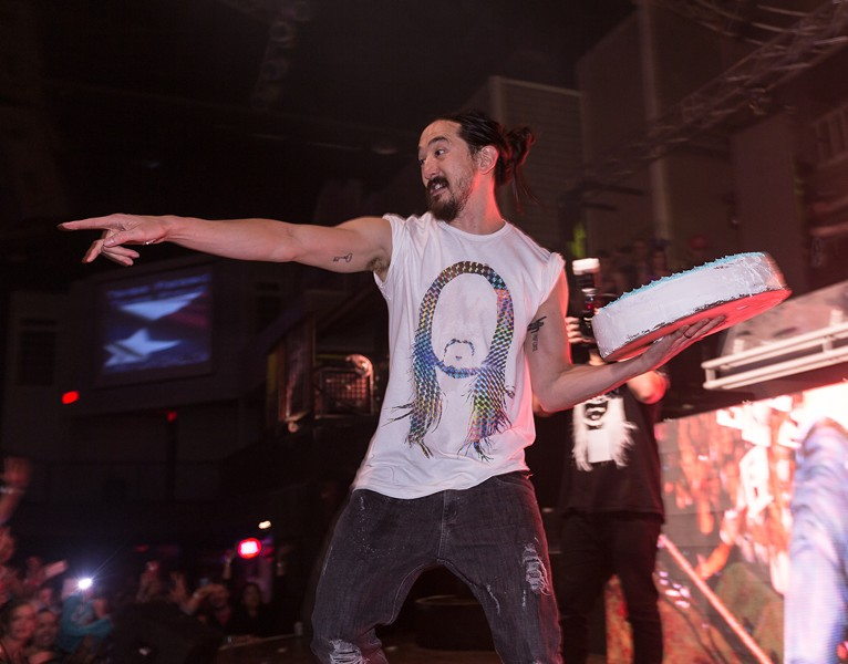 Steve Aoki at Club Rio last December - NOAH ACEVEDO
