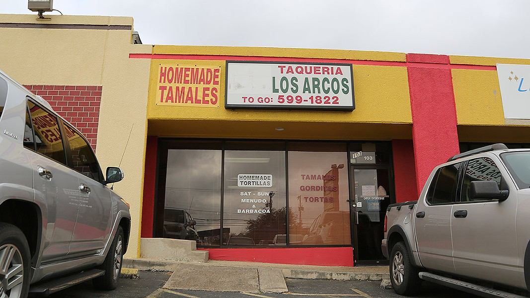 Los Arcos is located on taqueria-heavy Nacogdoches Road. - BEN OLIVO