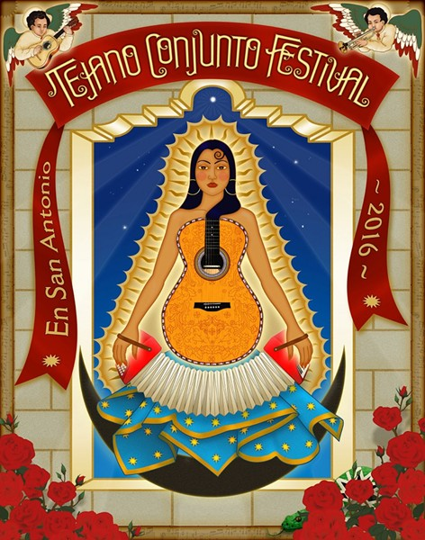 2016 TEJANO CONJUNTO FESTIVAL POSTER//DESIGN BY THERESE SPINA