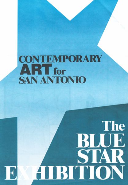 "The cover of ""The Blue Star Exhibition"" 1986 catalog"