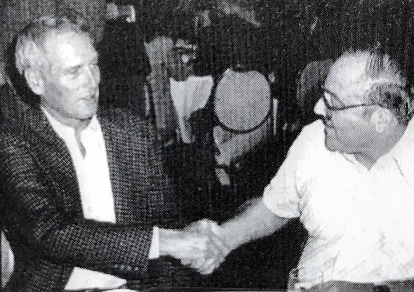 Polunsky meeting Paul Newman. - FLICKER FOOTNOTES