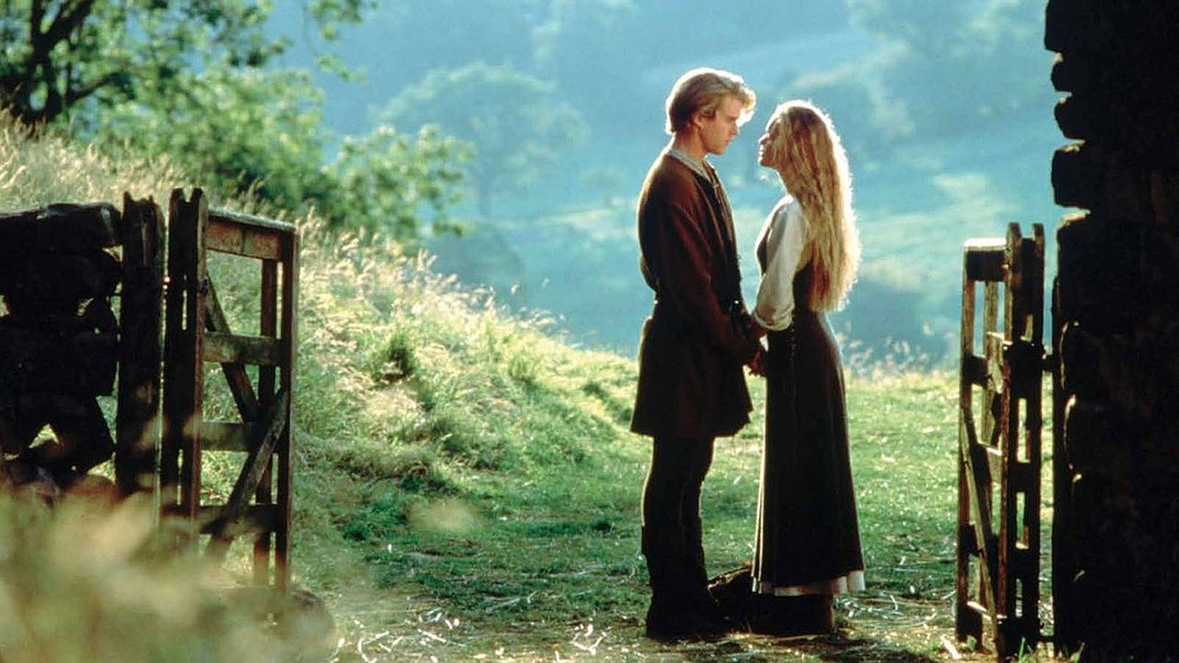 Westley (Elwes) shares a moment with his true love Buttercup (Robin Wright) in The Princess Bride. - TWENTIETH CENTURY FOX