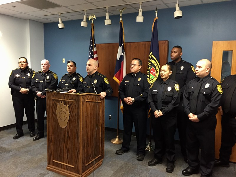 Bexar County Sheriff Javier Salazar and deputies. - LYANNE A. GUARECUCO