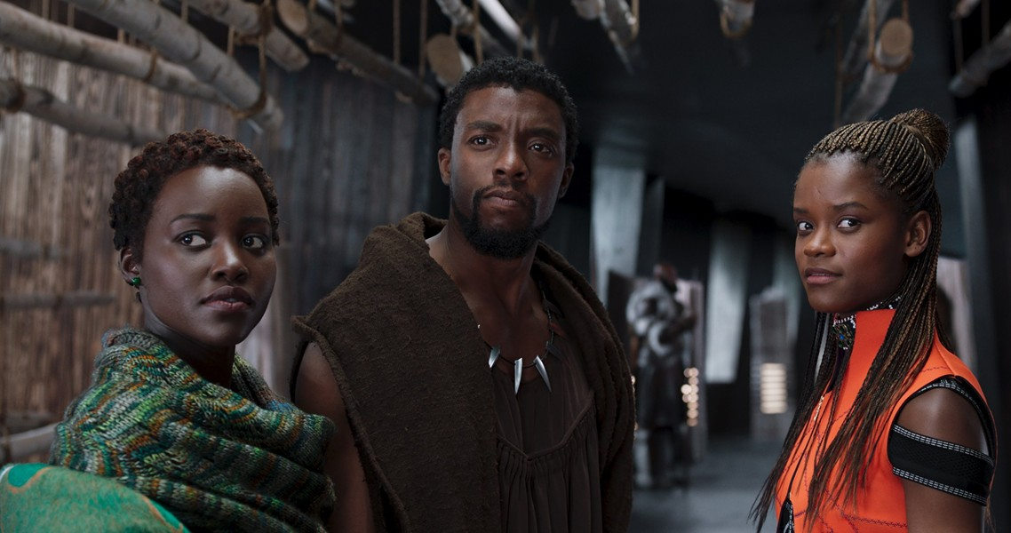 Actors Lupita Nyong'o, Chadwick Boseman and Letitia Wright star in the groundbreaking Marvel film Black Panther. - MARVEL STUDIOS