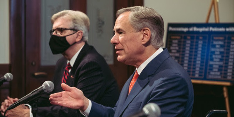 Texas Gov. Greg Abbott speaks at a recent news conference.