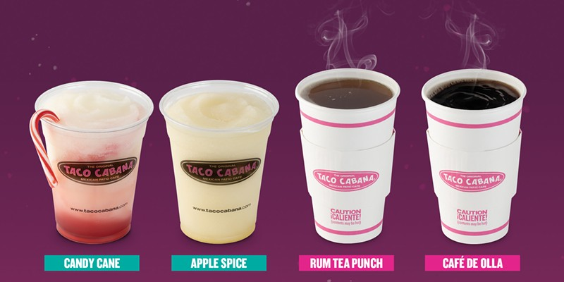 San Antonio-based Taco Cabana unveils frozen candy cane margaritas, because why not?